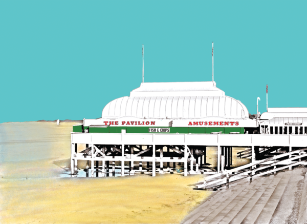 Burnham-On-Sea Pier Greetings Card