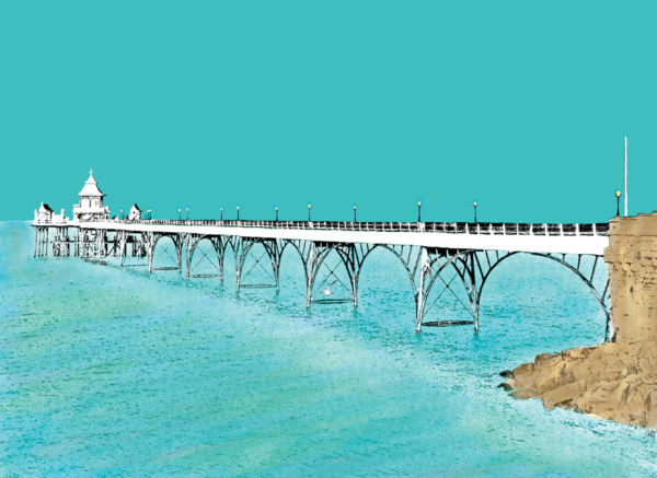 Clevedon Pier Greetings Card