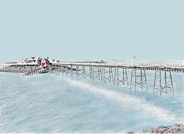 Birnbeck Pier, Weston-Super-Mare Greetings Card