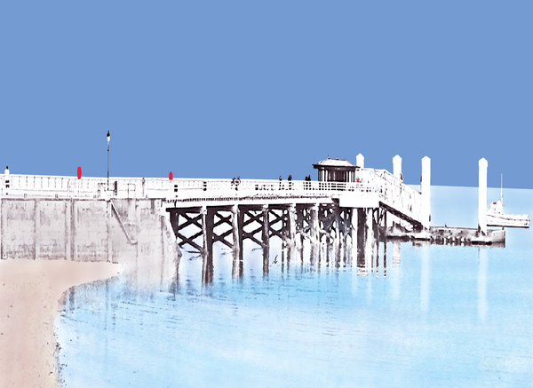 Beaumaris Pier Greetings Card