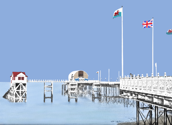 Mumbles Pier Greetings Card