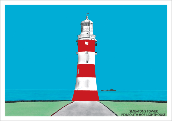 Smeatons Tower, Lighthouse, Plymouth Postcard