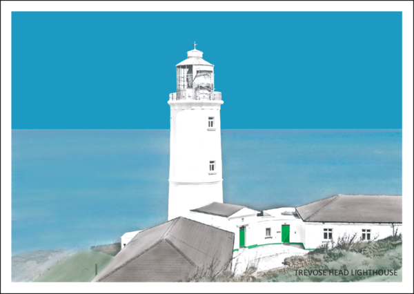 Trevose Head Lighthouse Postcard