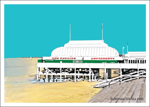 Burnham-On-Sea Pier Postcard
