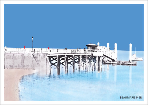 Beaumaris Pier Postcard