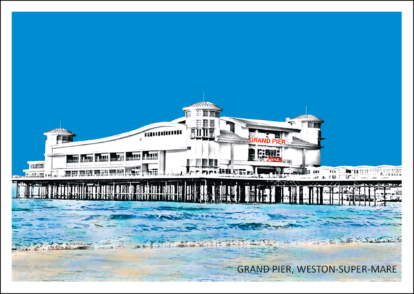 The Grand Pier, Weston-Super-Mare Postcard