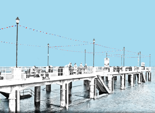 Prince of Wales Pier, Falmouth Greetings Card