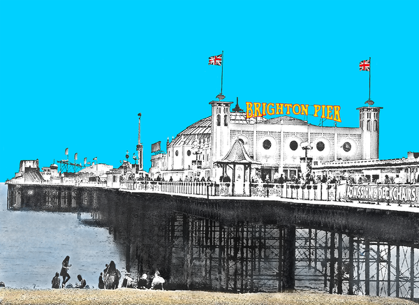 Brighton Palace Pier Greetings Card