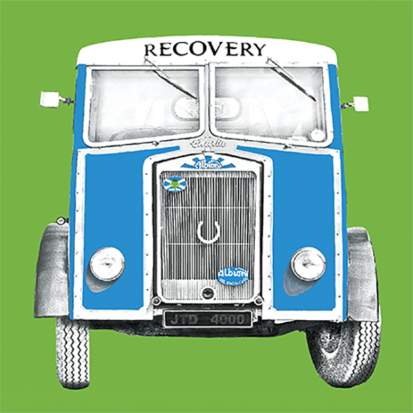 Recovery Van Greetings Card