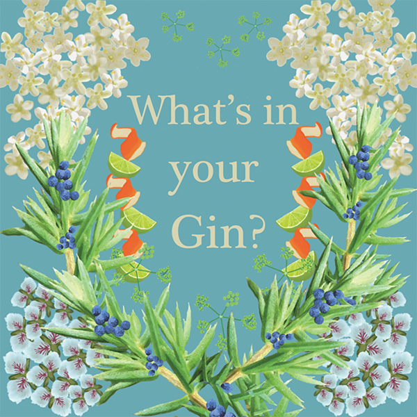 What's In Your Gin? Greetings Card