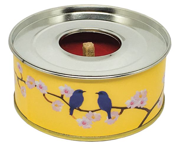 The Outdoor Candle - Japanese Blossom and Blue Birds