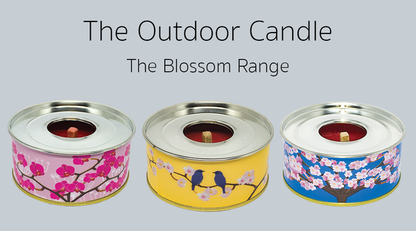 The Outdoor Candle - Set of Three The Blossom Collection