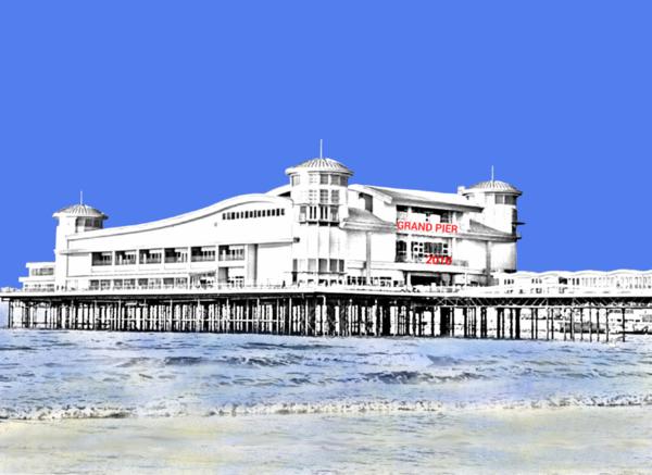 The Grand Pier, Weston-Super-Mare Greetings Card