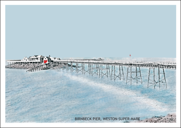Birnbeck Pier, Weston-Super-Mare Postcard