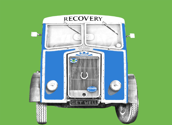 Recovery Vehicle Greetings Card