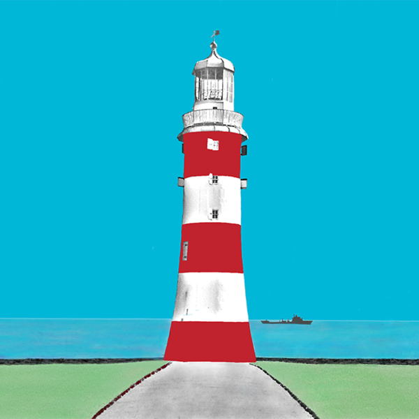 Smeatons Tower, Lighthouse, Plymouth Greetings Card