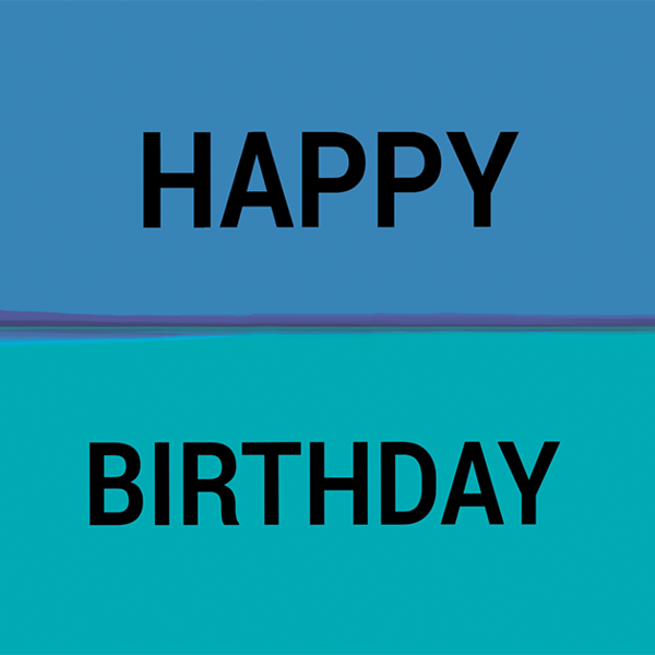 Happy Birthday Rothko Style Blue Greetings Card