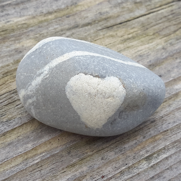 Heart Stone Greetings Card