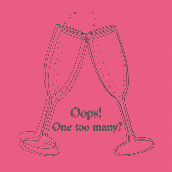 Oops! One Too Many? Greetings Card