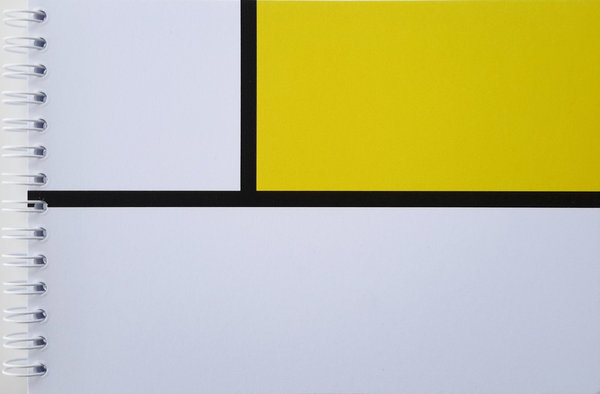Yellow and White Mondrian Style Notebook